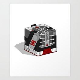 DC Cubic Lynx - Black/Grey Art Print