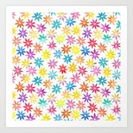 Vibrant Colors Floral Pattern Art Print