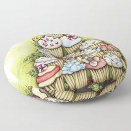 cupcake christmas tree Floor Pillow