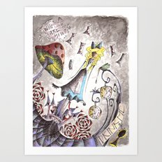 We're All Mad Art Print
