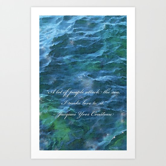 I make love to it Art Print