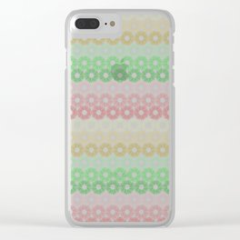 A pattern of composed colored fireworks. Clear iPhone Case