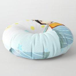 Frida and Ducks Yellow Polka Dots Floor Pillow
