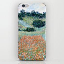 Poppy Field in a Hollow near Giverny by Claude Monet 1885 iPhone Skin
