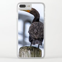 Cape Cod Canal Cormorant Clear iPhone Case