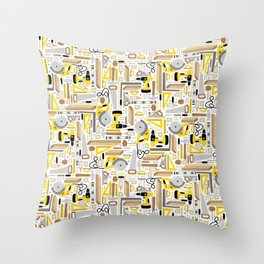 Measure Twice, Cut Once Throw Pillow