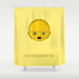SW C-3PO The Interpreter Shower Curtain