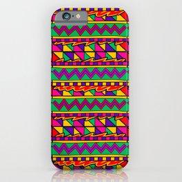 Latin American Pattern. Zigzag Squares Triangle Patterns. Colourful Pattern. Latin America. Funky iPhone Case
