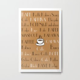 Coffee Cafe Subway Art 2.0 Metal Print