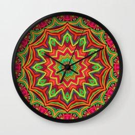 embroidered kaleidoscope 3D Wall Clock