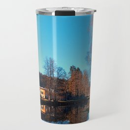 Winter mood on the river II | waterscape photography Travel Mug