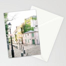 La Maison Rose, Pink Café in Paris, France   The Pink House in Montmartre, Paris, France   Fine Art Travel Photography Stationery Cards