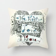 3>:( Throw Pillow