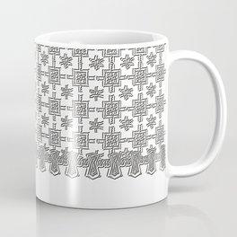 Vintage White Crochet Square Lace Pattern Coffee Mug