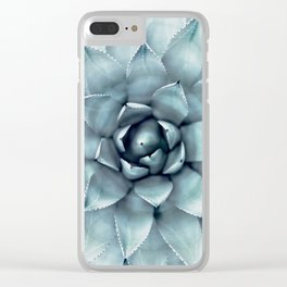 Agave Print, Cactus Print, Succulent Art Clear iPhone Case