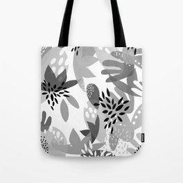 Tropical Minimalist Black & White Tote Bag
