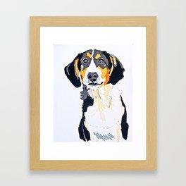 Beagle Dog Portrait Framed Art Print