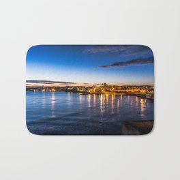 Sunrise landscape long exposure Otranto Bath Mat