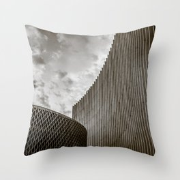 Texturized Brutalism Throw Pillow
