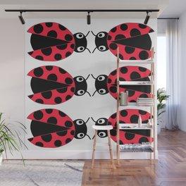Facing Ladybugs Wall Mural