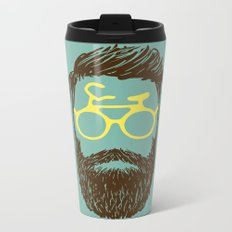 Hipster Biker Metal Travel Mug