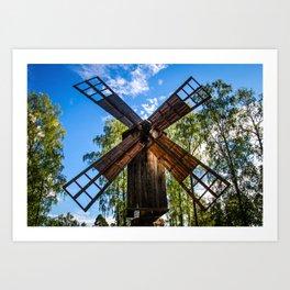 Finnish Windmill Art Print