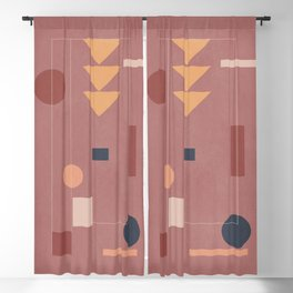 Abstract Geometric Shapes 156 Blackout Curtain
