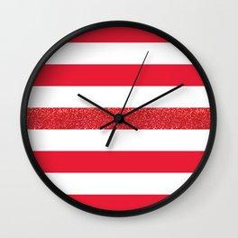 university of houston stripes Wall Clock