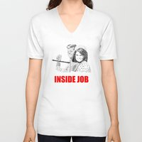 jfk V-neck T-shirts featuring JFK Assassination: Inside Job! by InvaderDig