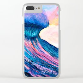 Pinkies Wave Clear iPhone Case