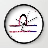 libra Wall Clocks featuring Libra by haroulita
