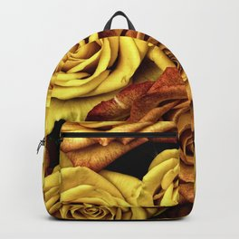 Golden Yellow Roses Pattern (Color) Backpack