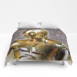 Gold Robot  Comforters