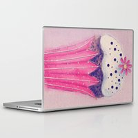cupcake Laptop & iPad Skins featuring Cupcake by Irène Sneddon