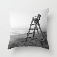 sunrise Throw Pillows featuring Sunrise by Solar Designs