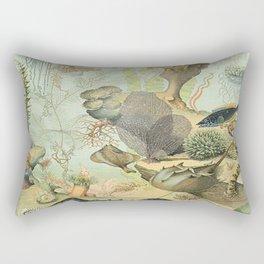 SEA CREATURES COLLAGE, OCEAN ILLUSTRATION Rectangular Pillow