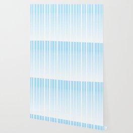 Dissolving Stripes Pattern in Soft Light Blue Wallpaper