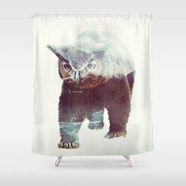 Owlbear Shower Curtain