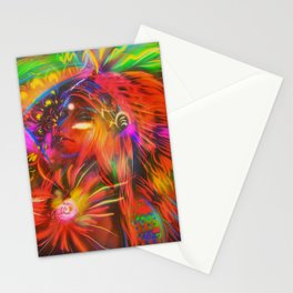 Neon Indian Stationery Cards