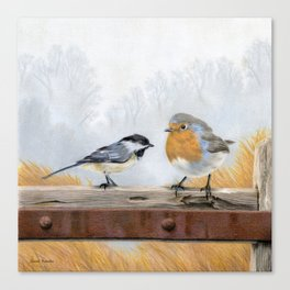 The Chickadee And His Friend Canvas Print
