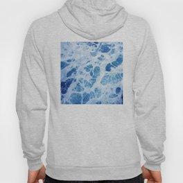 Swirling Ocean Surf in Elegant Blues Hoody