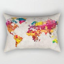 World Map 55 Rectangular Pillow