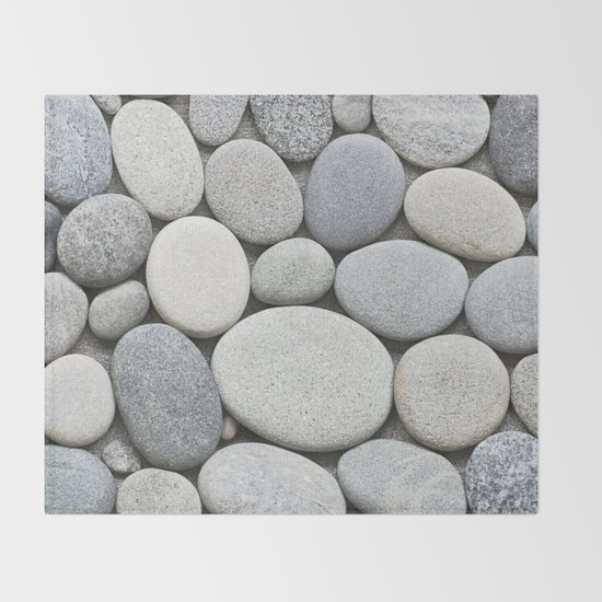 Grey Beige Smooth Pebble Collection by lebensartphotography