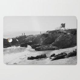 Leo Carrillo State Beach   Malibu California   Black and White Photography   Malibu Photography Cutting Board