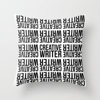 writer Throw Pillows featuring CREATIVE WRITER by Creative Adventures
