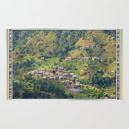 TERRACED HIMALAYAN FOOTHILLS VILLAGE IN NEPAL Rug