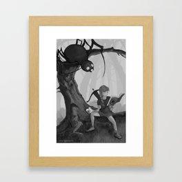 Little Miss Moffit, Slayer of Spiders Framed Art Print