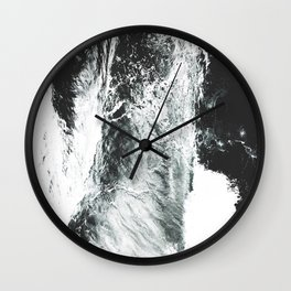 Abstract ocean Wall Clock
