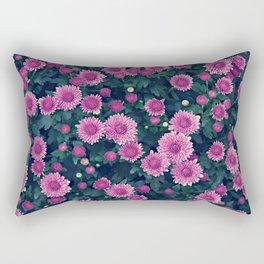 Purple Garden Mums All Over for Fall Rectangular Pillow