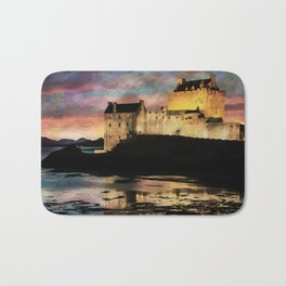 Eilean Donan Castle at Sunset. Bath Mat